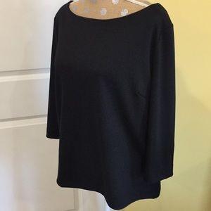 Black tunic popover